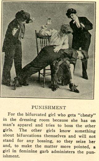 Fată bifurcată pedepsită