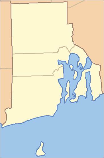 Rhode Island Locator Map