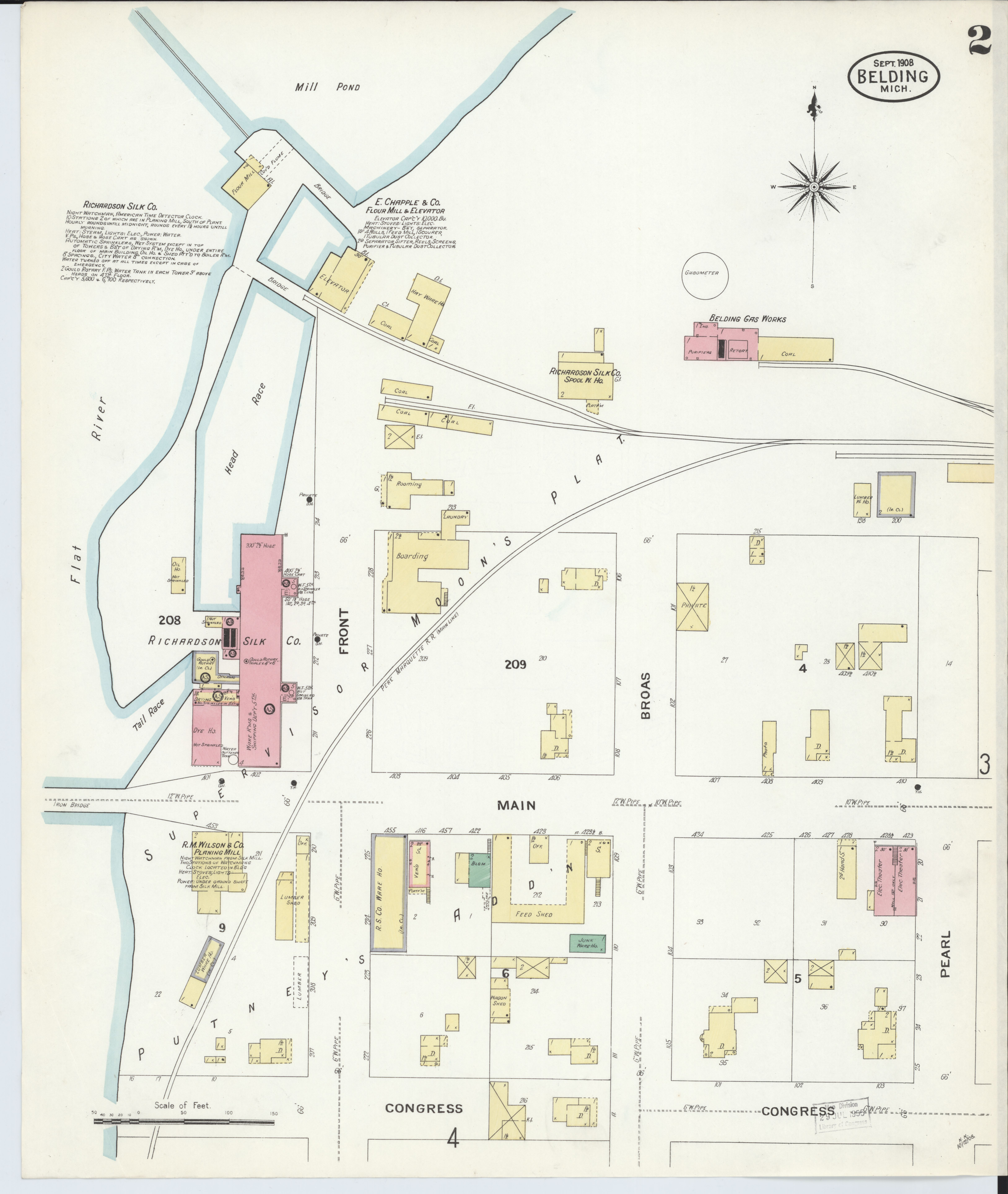 File Sanborn Fire Insurance Map From Belding Montcalm County
