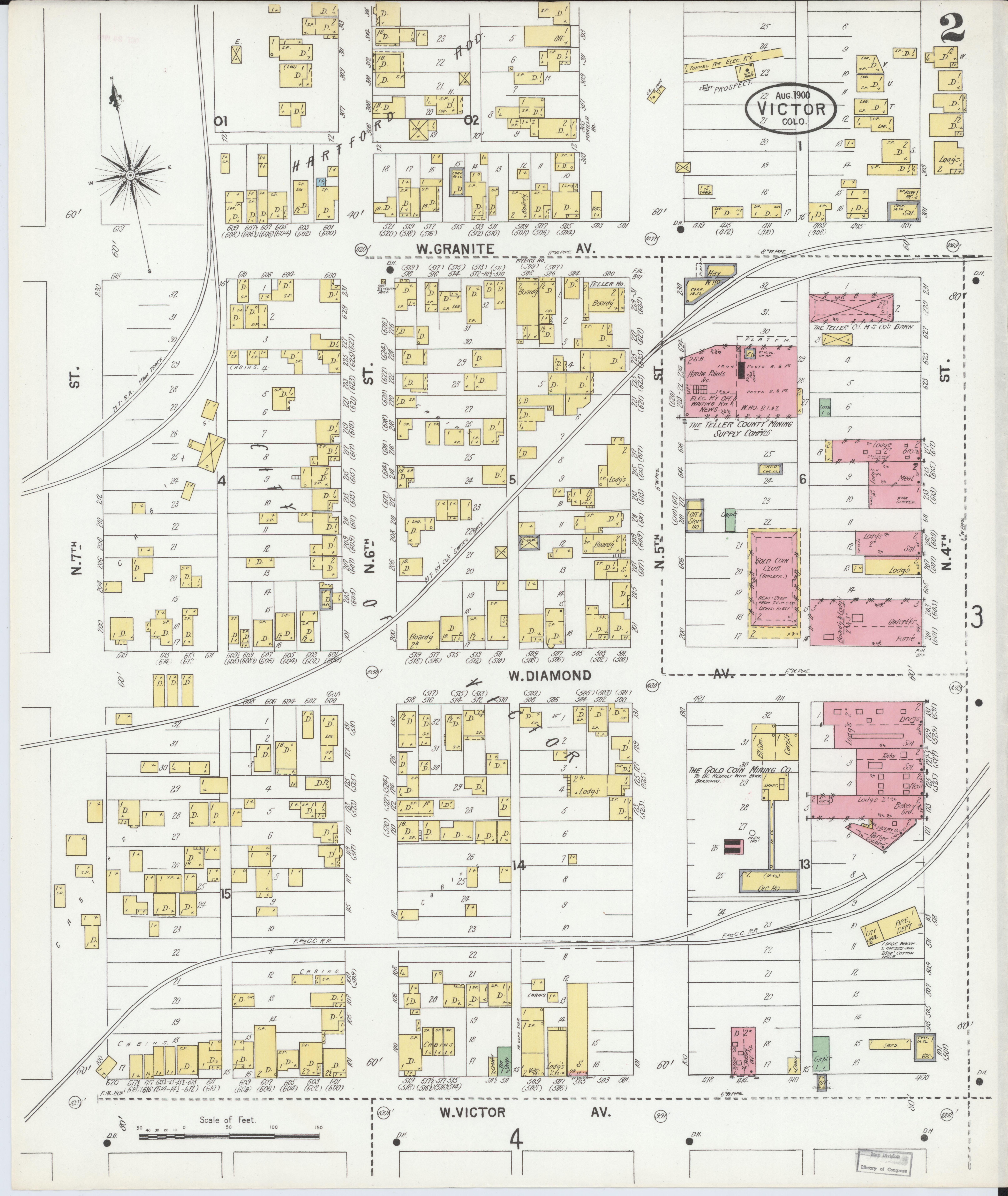Teller County Fire Map File:Sanborn Fire Insurance Map from Victor, Teller County