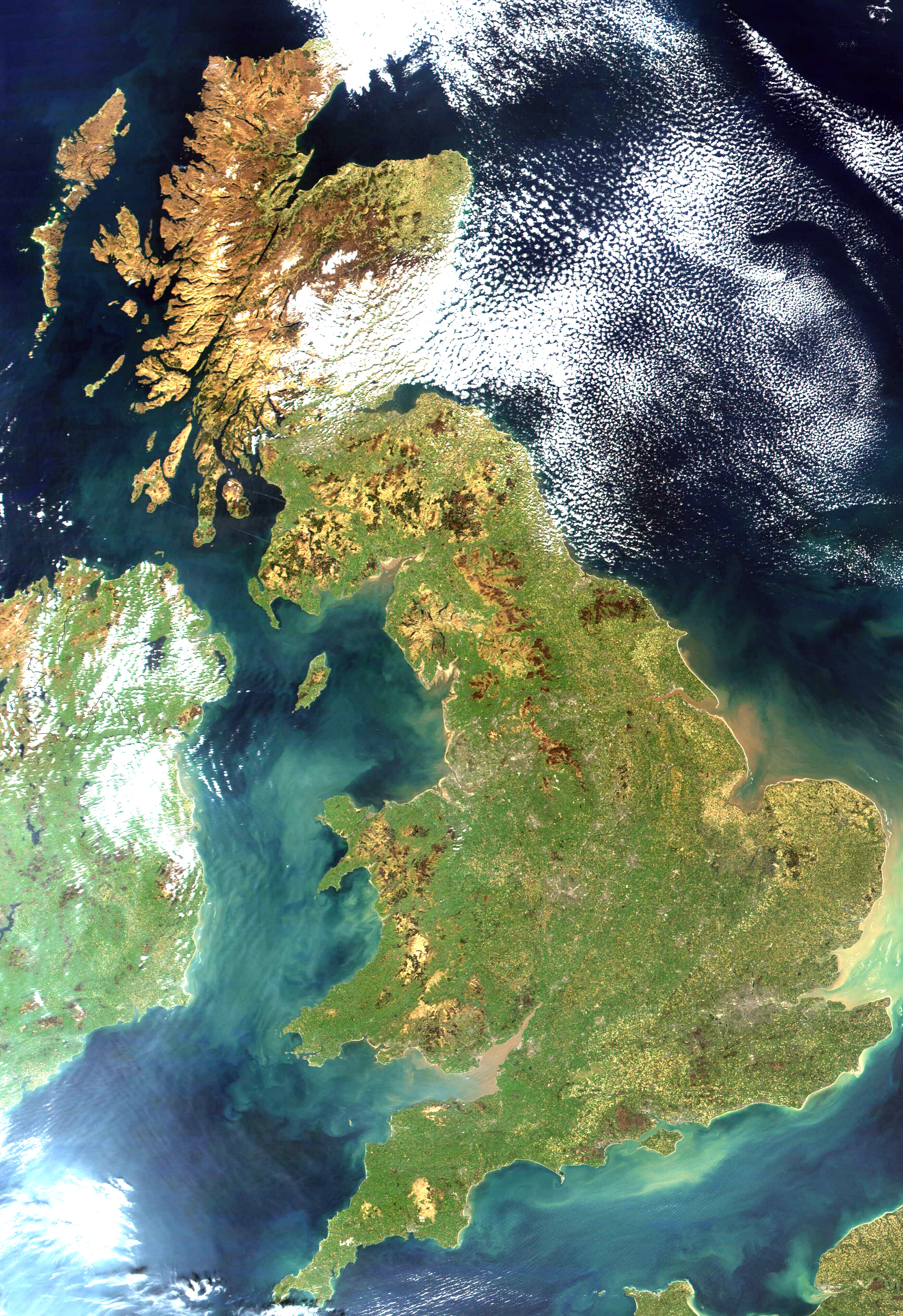 Satellite image of the United Kingdom