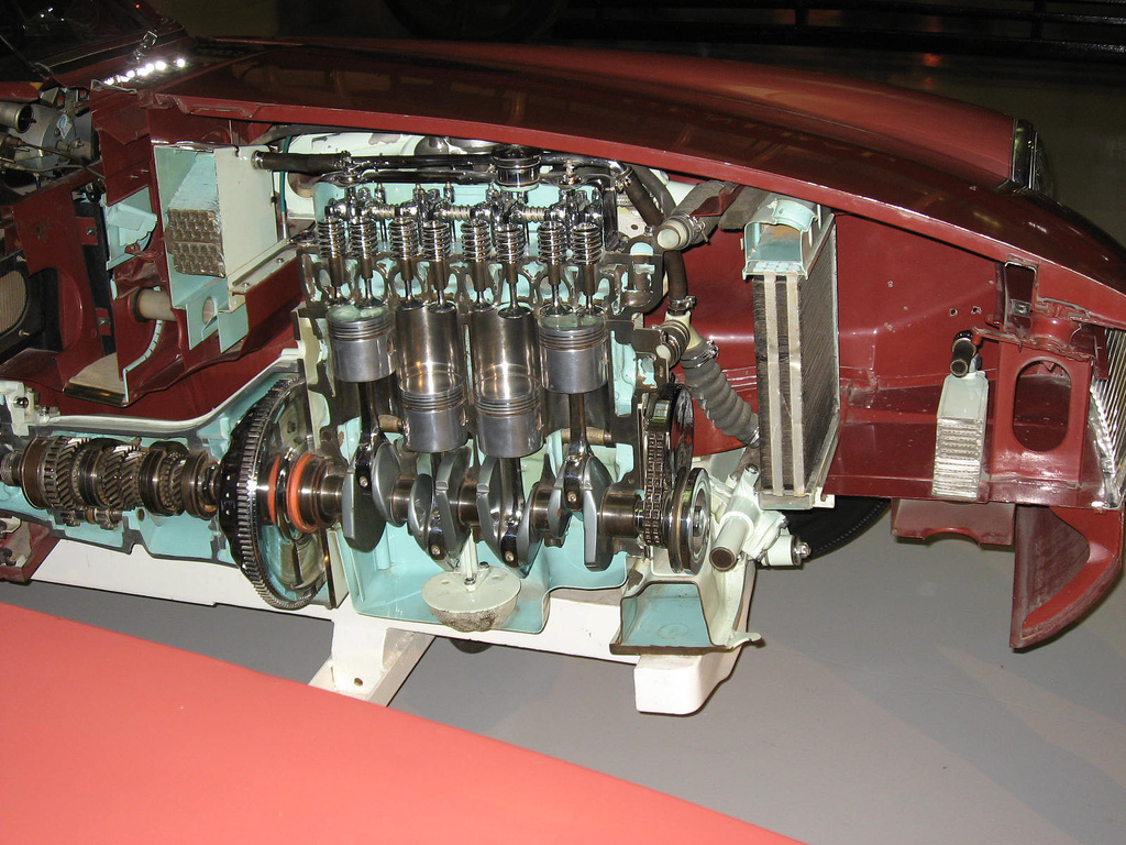 File Sectioned MGB at the British motoring heritage museum gaydon  3 on 1977 mgb fuel pump