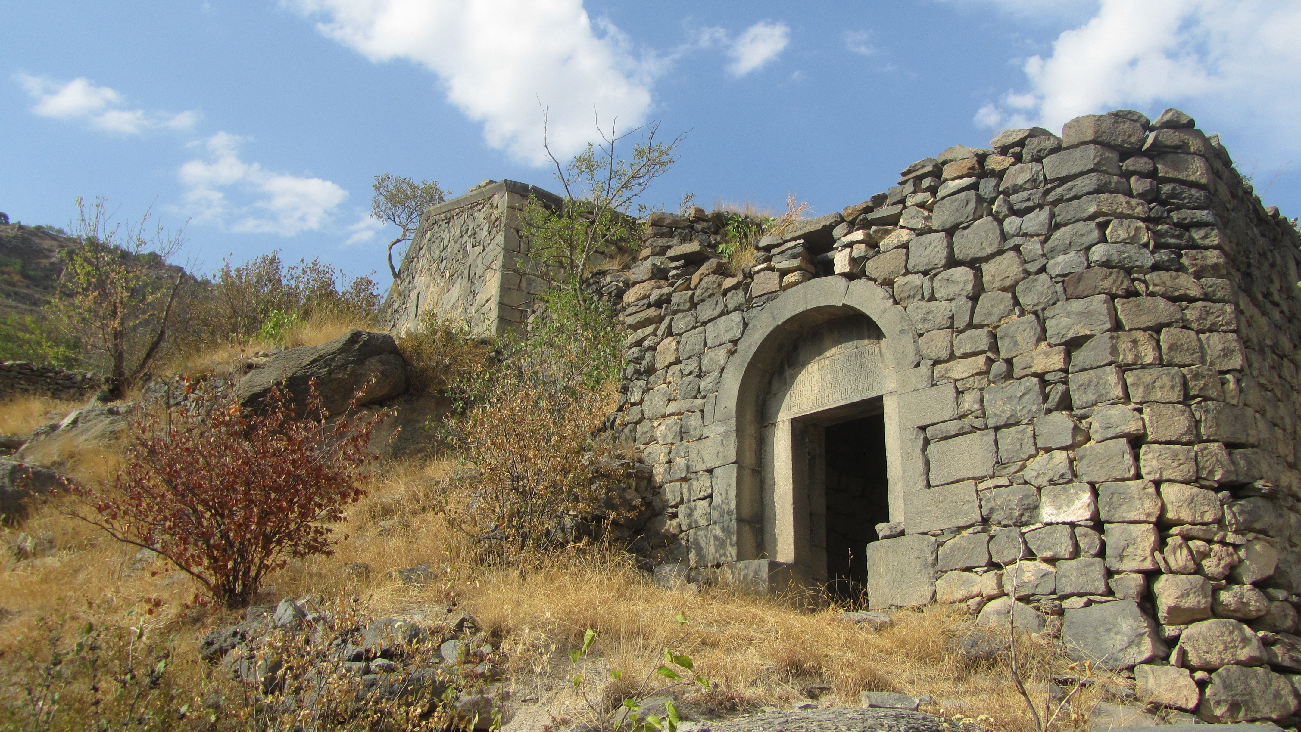 The entrance to the monastery