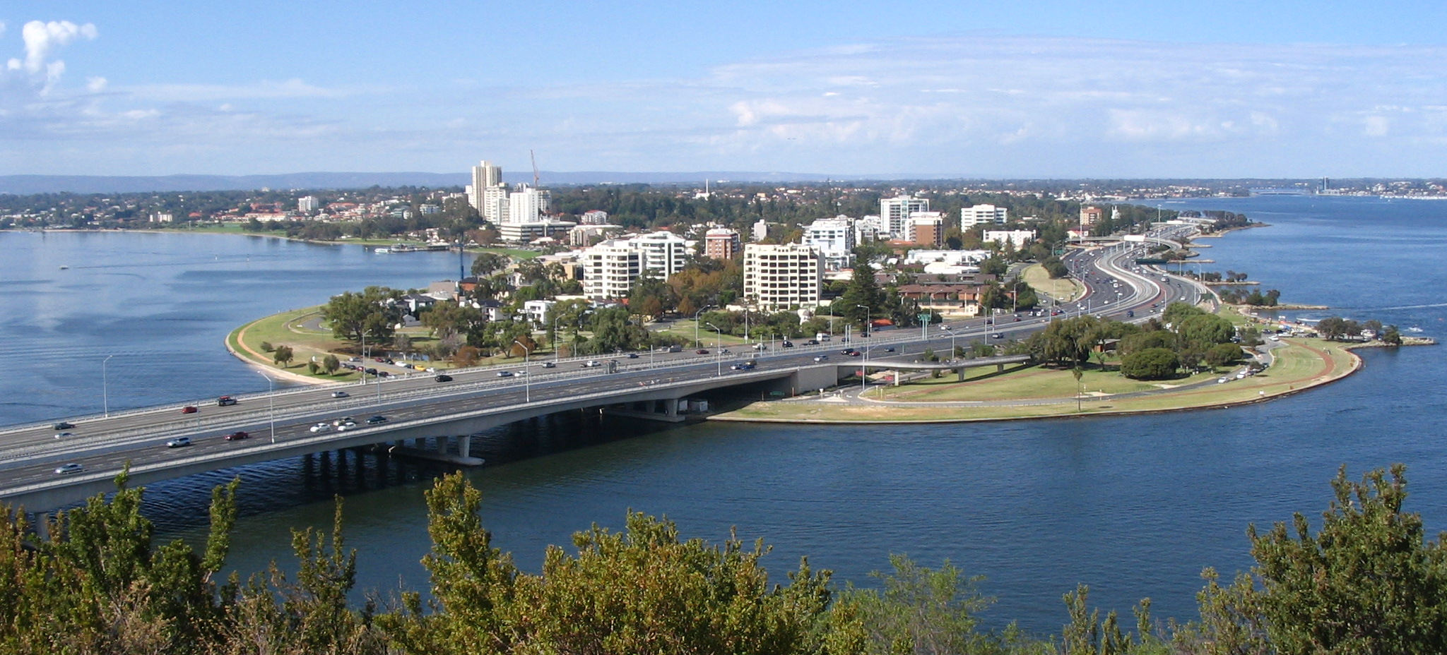 Perth Australia  city photo : South Perth from Kings Park Wikimedia Commons