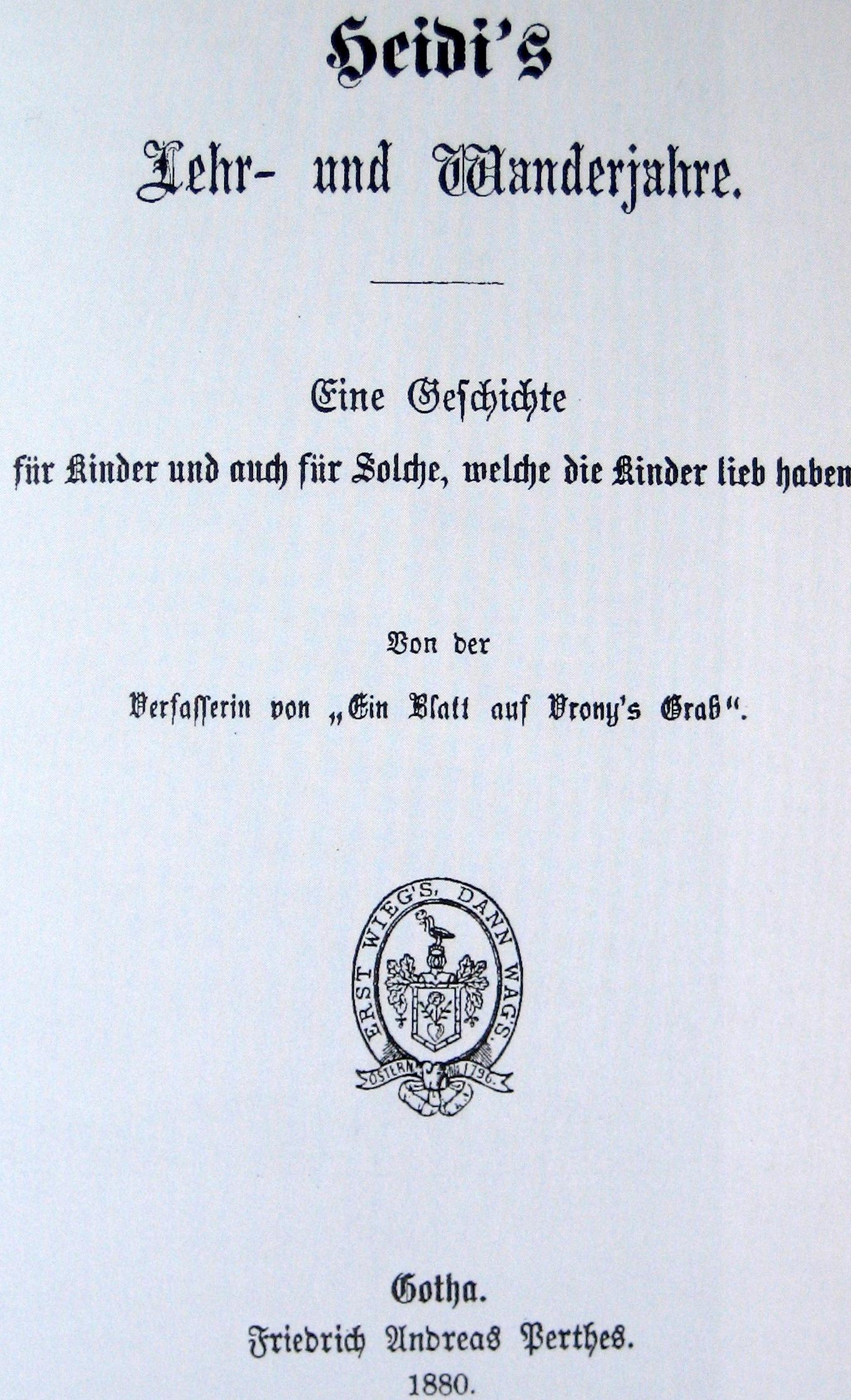 Heidi (Roman) – Wikipedia