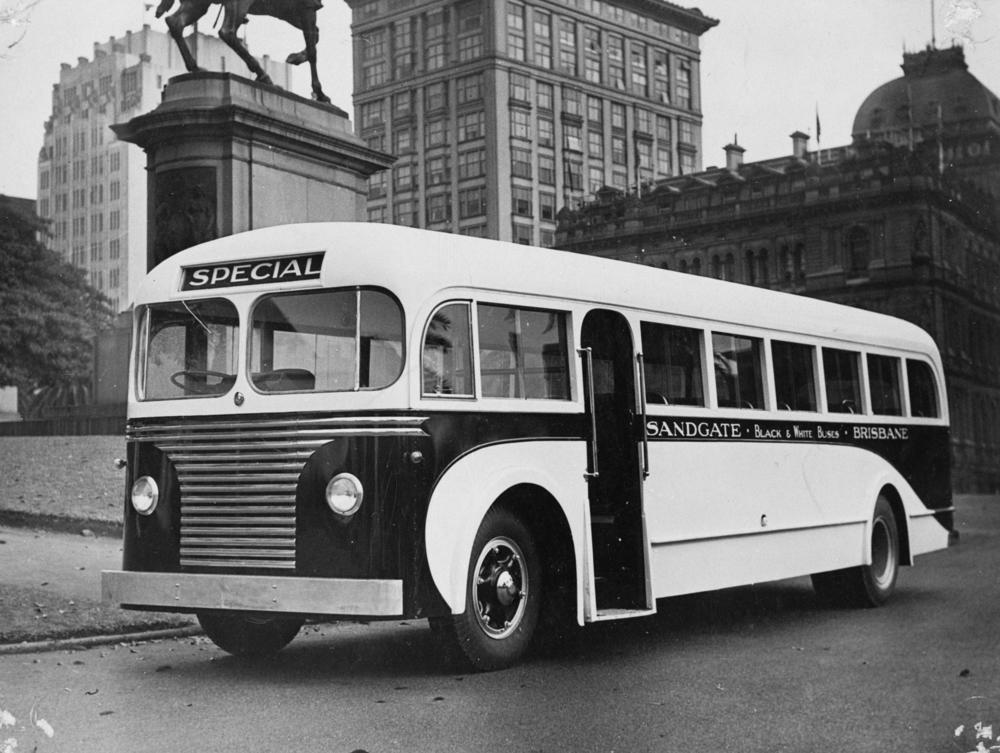 Black and White Bus
