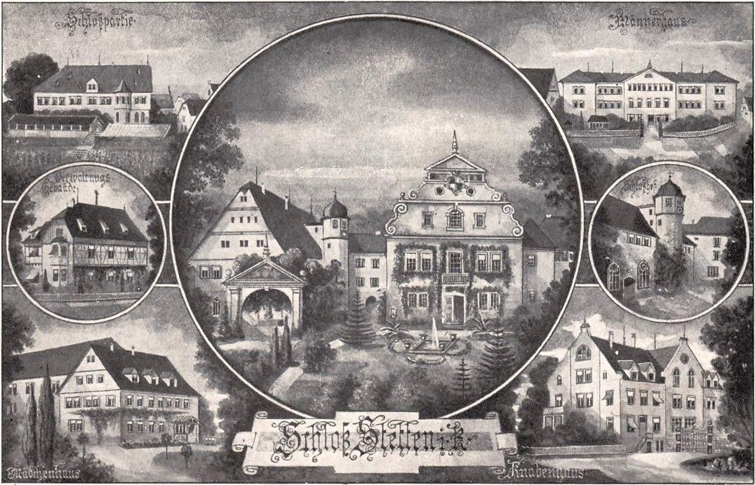 Datei:Stetten im Remstal b. Waiblingen,Heil- u. Pflegeanstalt Carl Steus