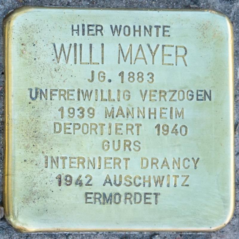 Stolperstein für Willi Mayer