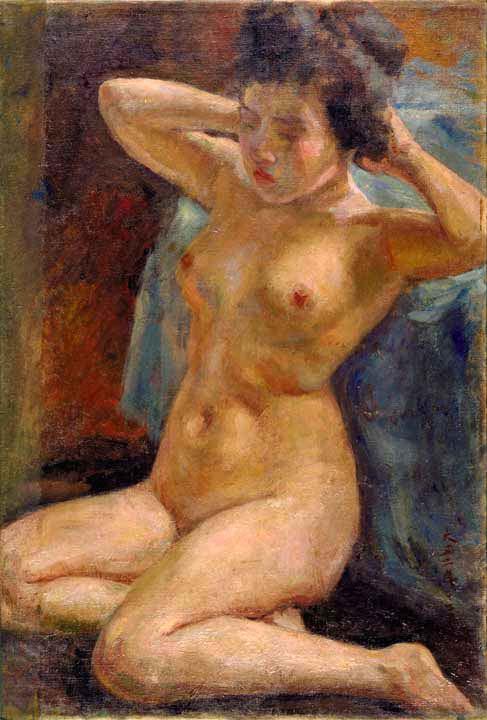 Study of a Female Nude by Kuroda Seiki (Kuroda Kinenkan)