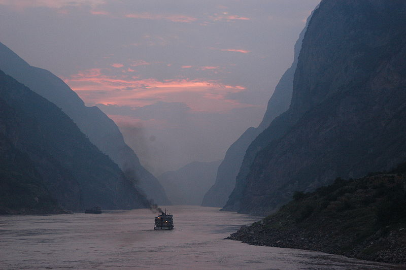 Yangtze River at Sunset in China