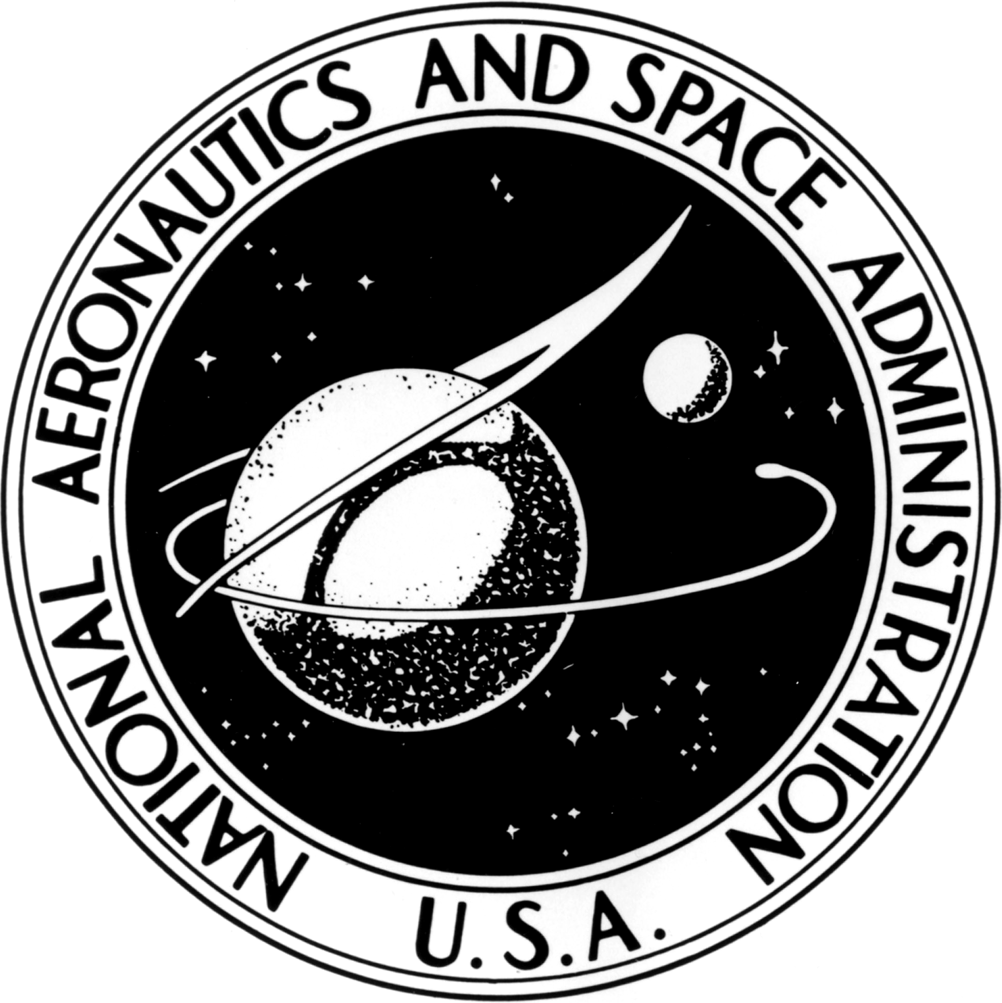 nasa emblem black and white - photo #1