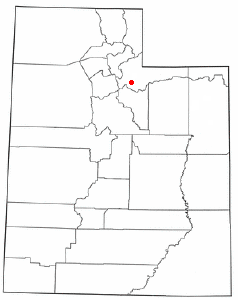 Location of Peoa, Utah