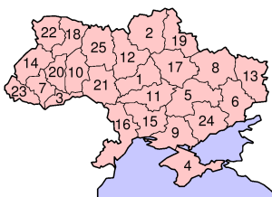 Oblasts of Ukraine