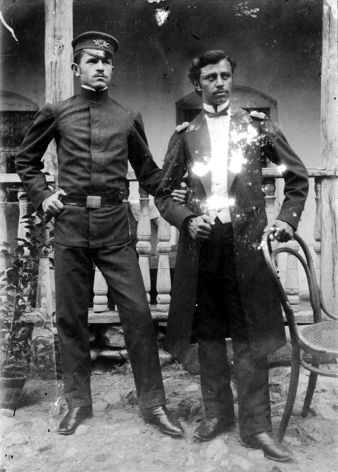 File:Uzeir(right) and Jeyhoun Hajibeyli.jpg