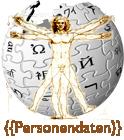 """Wikipedia-Logo mit Schriftzug """"Personendaten"""""""
