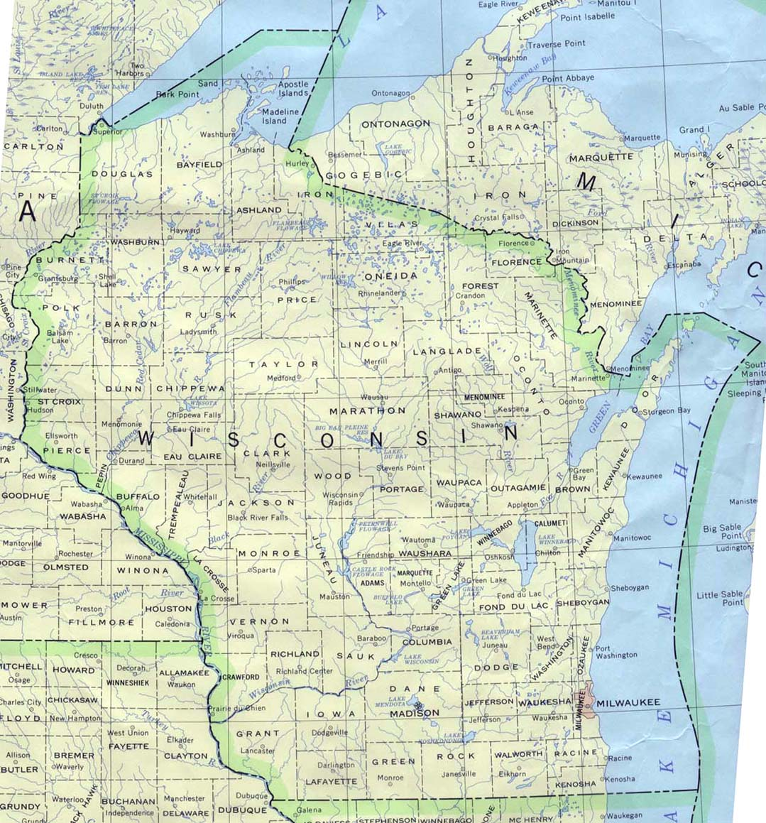 Wind Power In Wisconsin Wikipedia - Wisconsin road map usa
