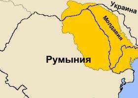 Молдавське князівство на фоні кордонів сучасних держав