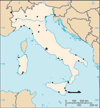 magyarország olaszország térkép Olaszország városai – Wikipédia magyarország olaszország térkép