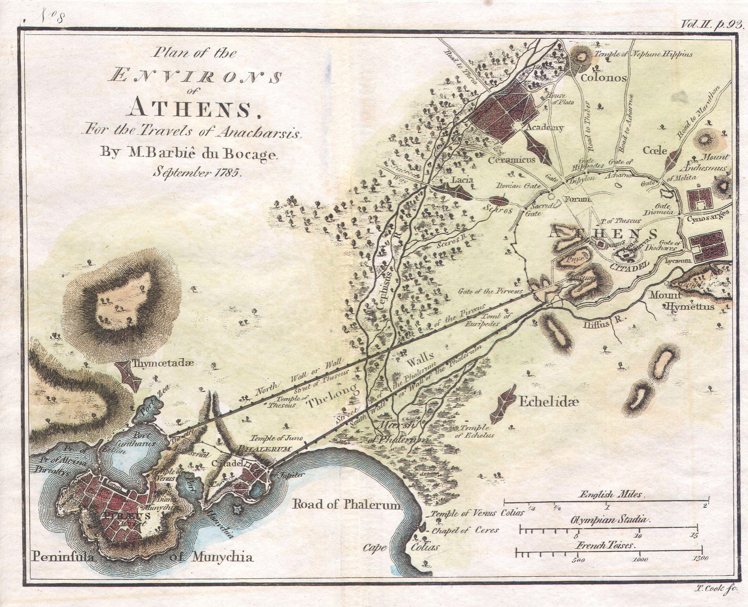 File:1784 Bocage Map of the City of Athens in Ancient Greece ... on