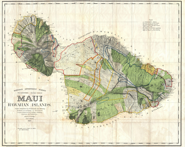 File1885 de witt alexander wall map of maui hawaii geographicus file1885 de witt alexander wall map of maui hawaii geographicus maui altavistaventures Images