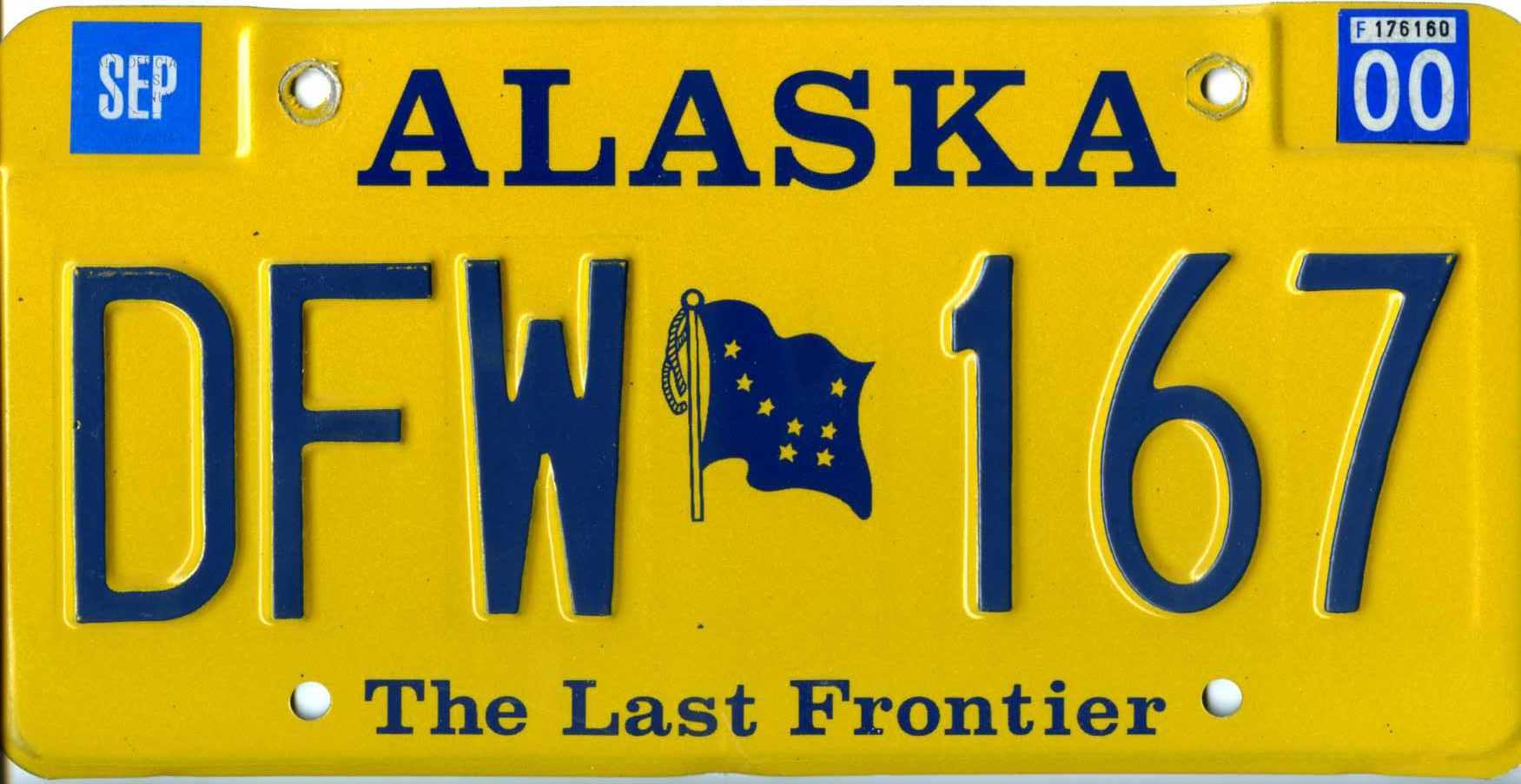 US USA California Kennzeichen License Plate Number Plate Aufkleber 1962