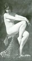 Nude art, model in most poses is Miss Dorothy Lees