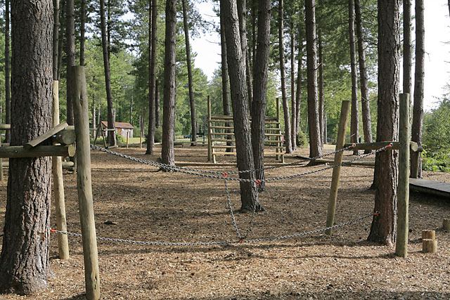 Adventure-type play facilities at West Walk car park, Forest of Bere - geograph.org.uk - 234534