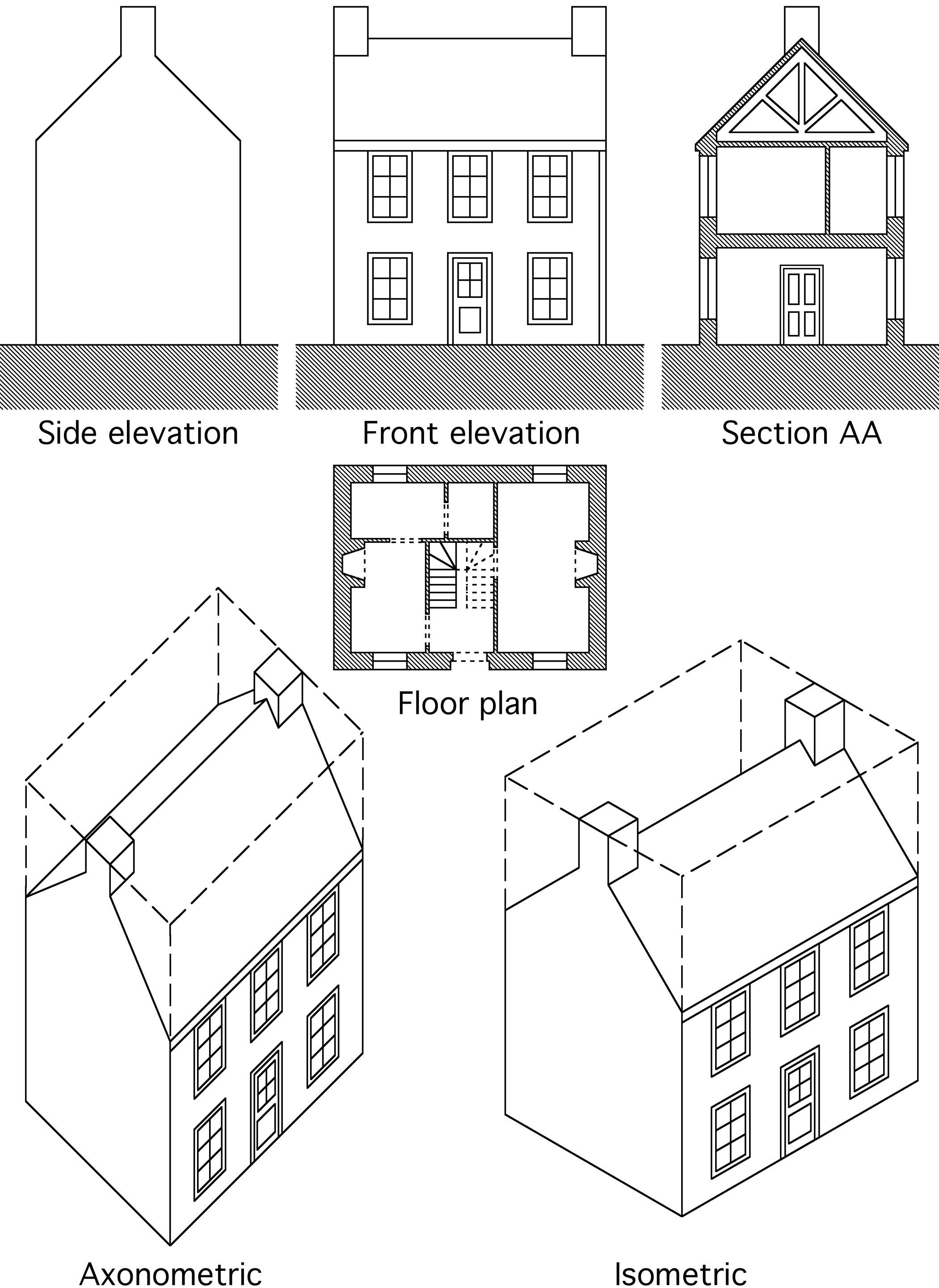 File architectural drawing wikimedia commons for Architectural drawings for houses