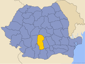 Administrative map of Руминия with Аргеш county highlighted