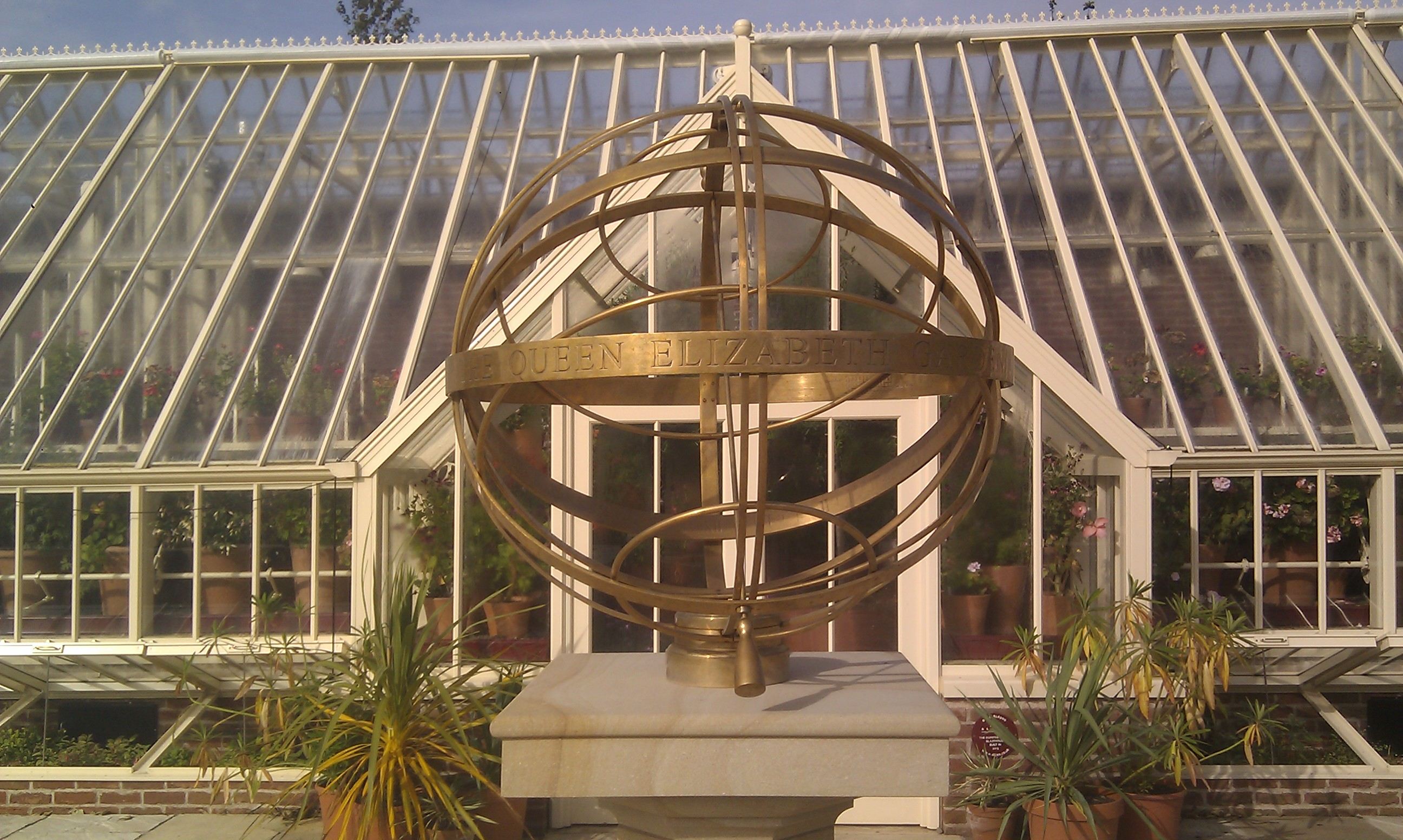 File:Armillary Sphere And Greenhouse At The Queen Elizabeth Garden,  Dumfries House