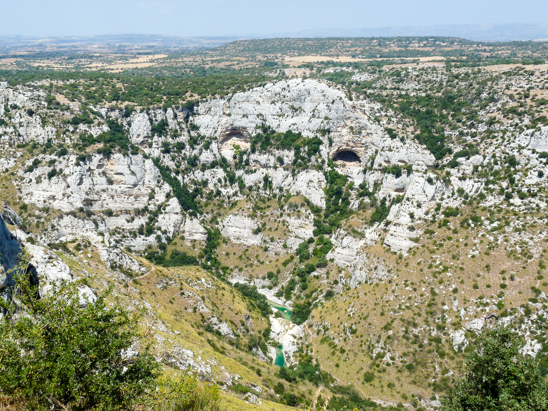 Cavagrande del Cassibile nei pressi di Avola antica