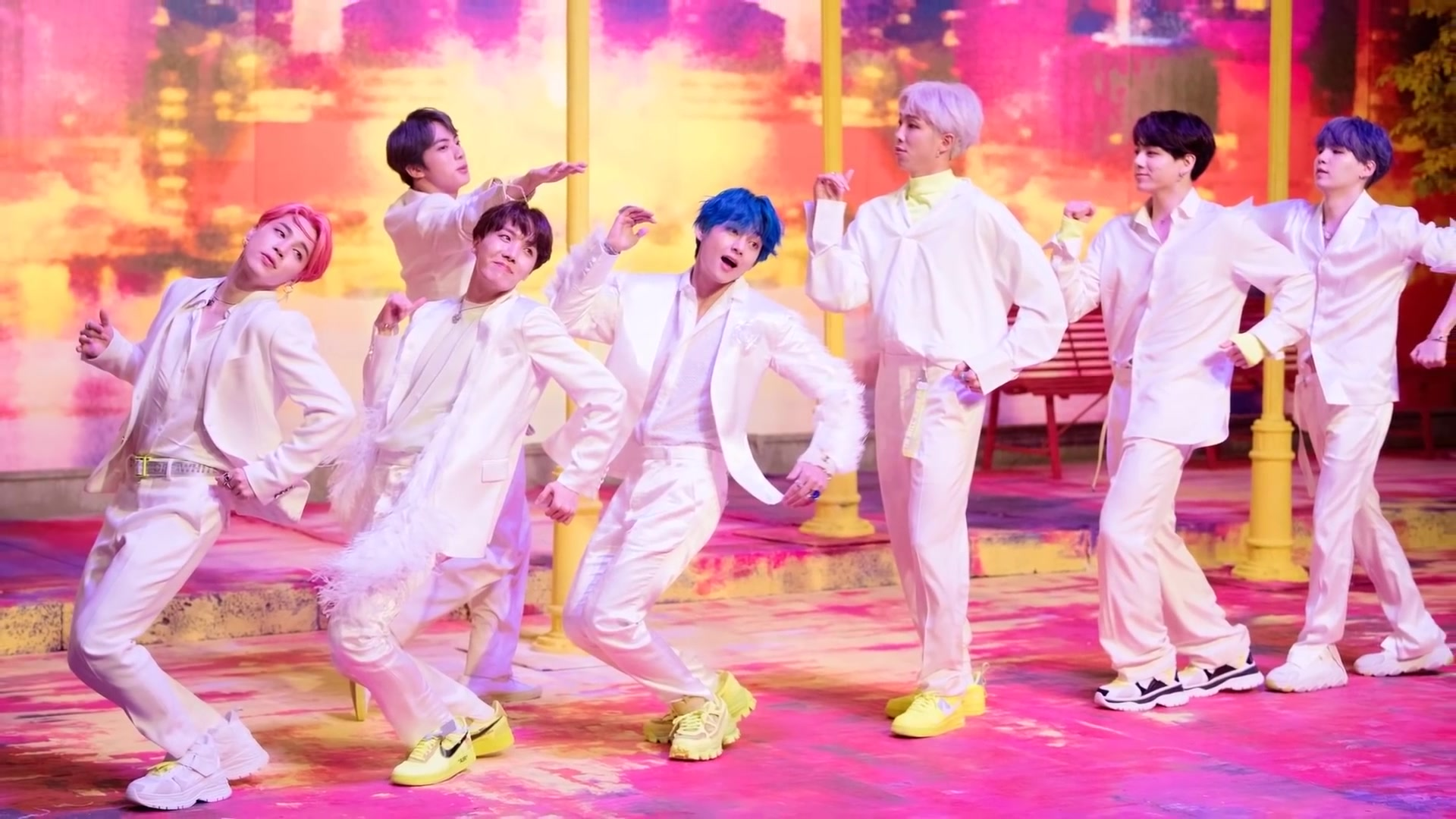 BTS for Dispatch %22Boy With Luv%22 MV behind the scene shooting%2C 15 March 2019