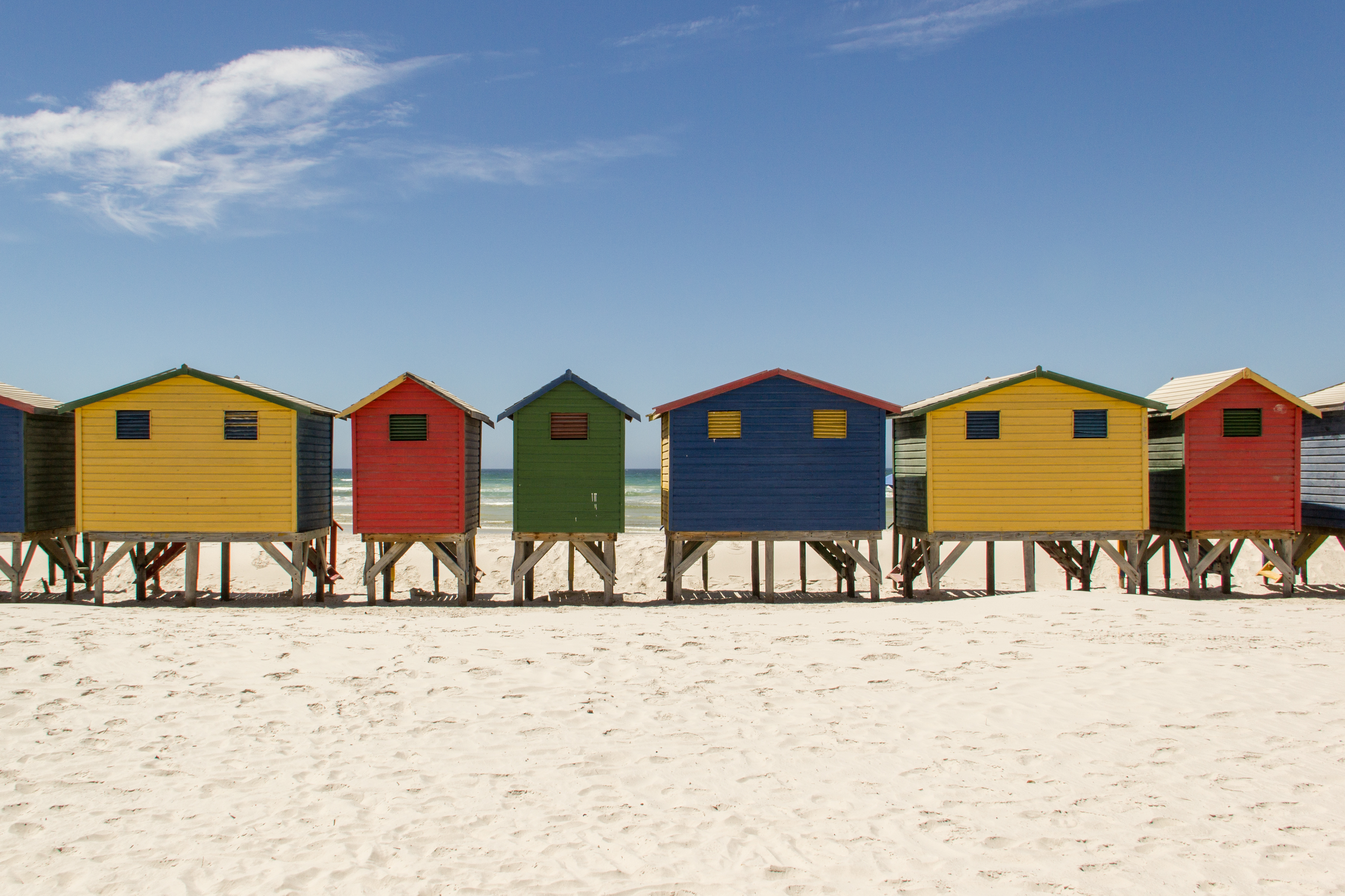 Pictures of houses on the beach - File Beachhousesmuizenbergbeach Jpg