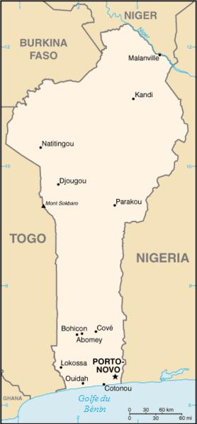 Image:Benin carte.png