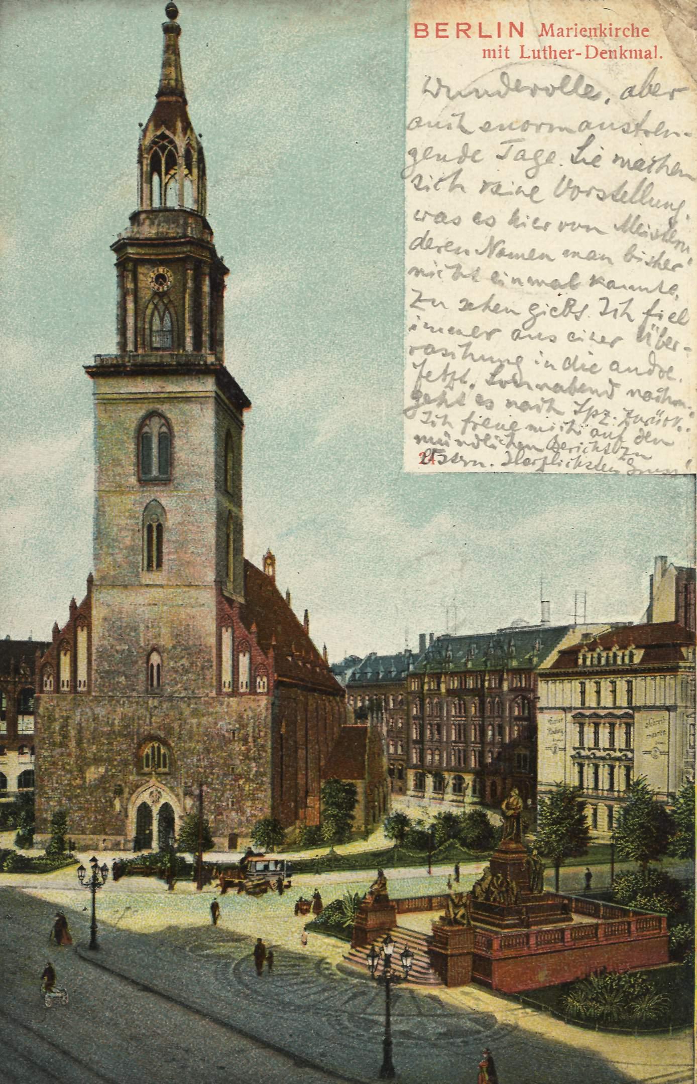 Berlin Mitte St. Marienkirche Lutherdenkmal 1906.jpg