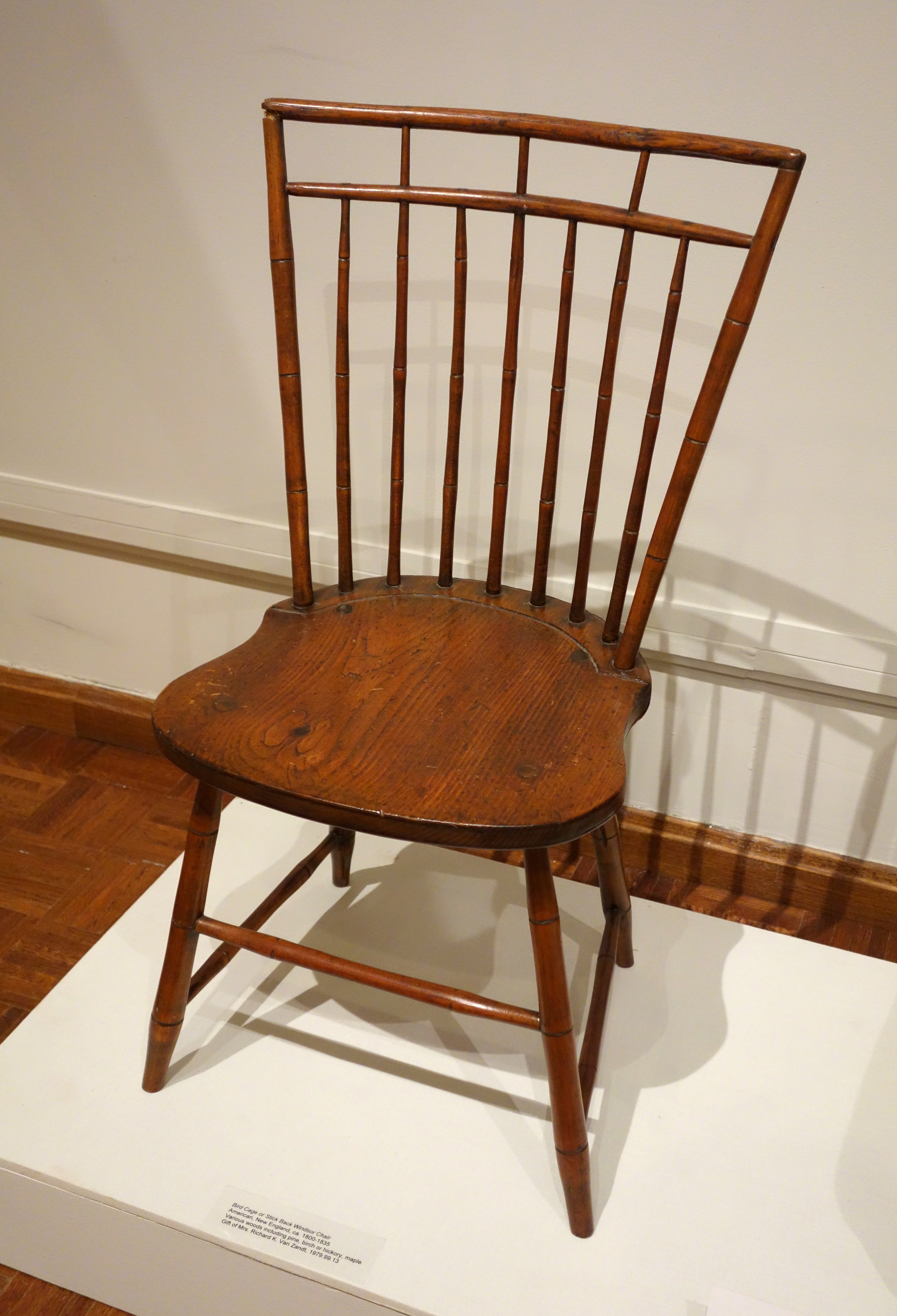 File:Bird Cage Or Stick Back Windsor Chair, American, New England, C