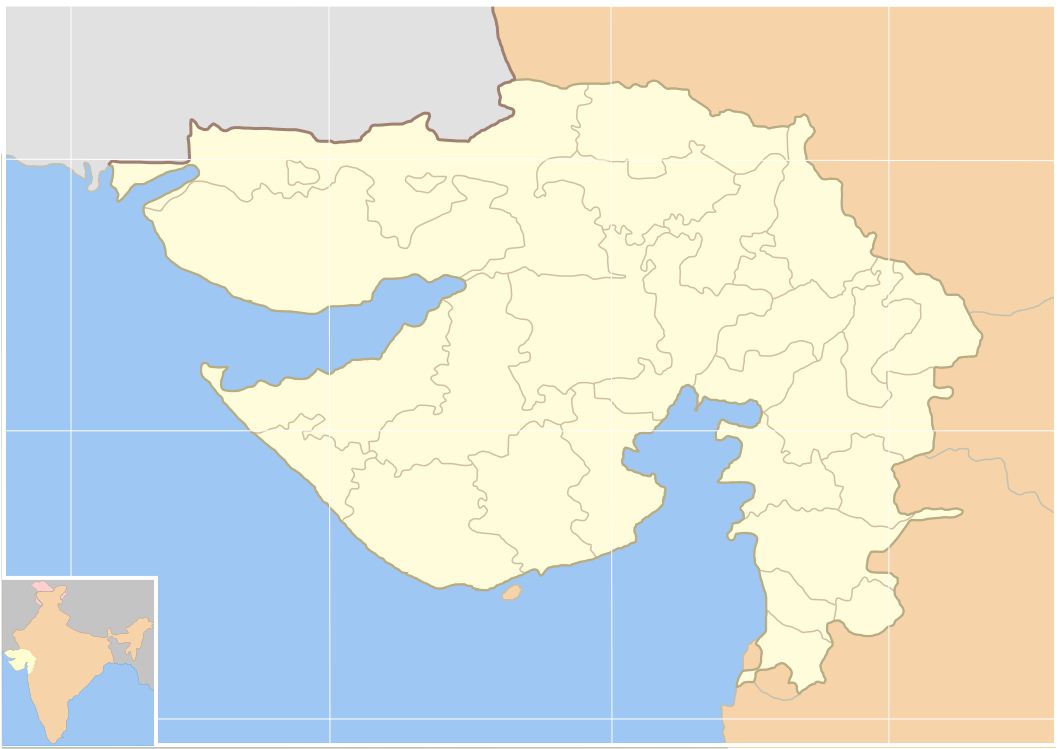 File:Blank Map Gujarat state and districts.png - Wikimedia Commons