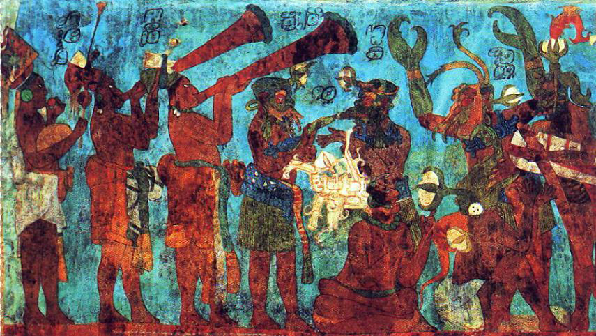 Archivo Bonampak Mural Room 1 Musicians And Dancers Jpg