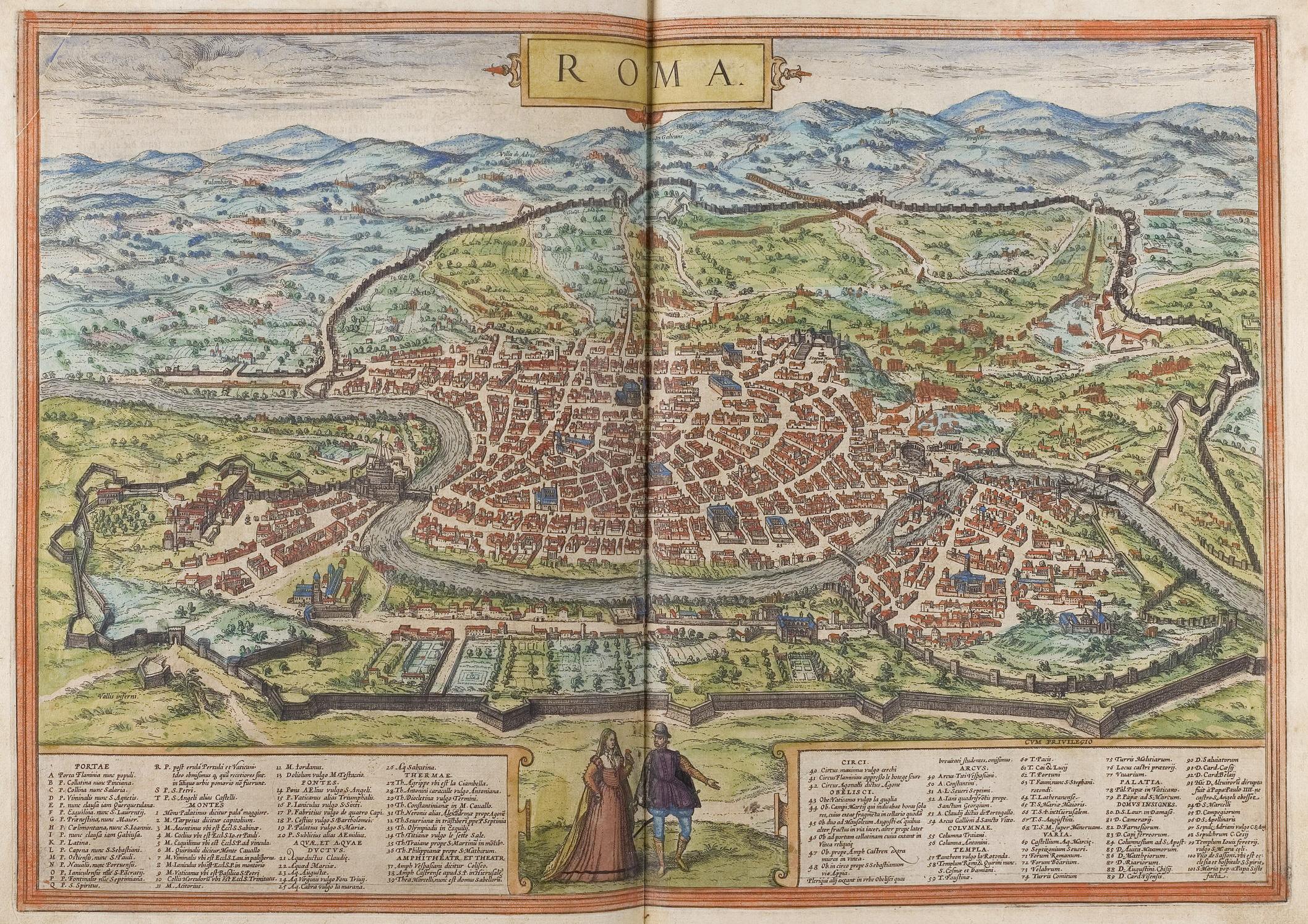 Georg Braun Pianta di Roma 1570