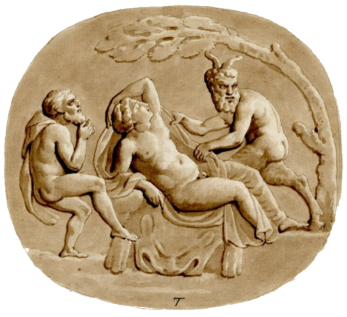 British Museum - Silenus, Hermaphroditus, Pan.JPG