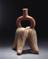 Olijfkomkommer in Moche-aardewerk - Achoccha in Moche ceramic