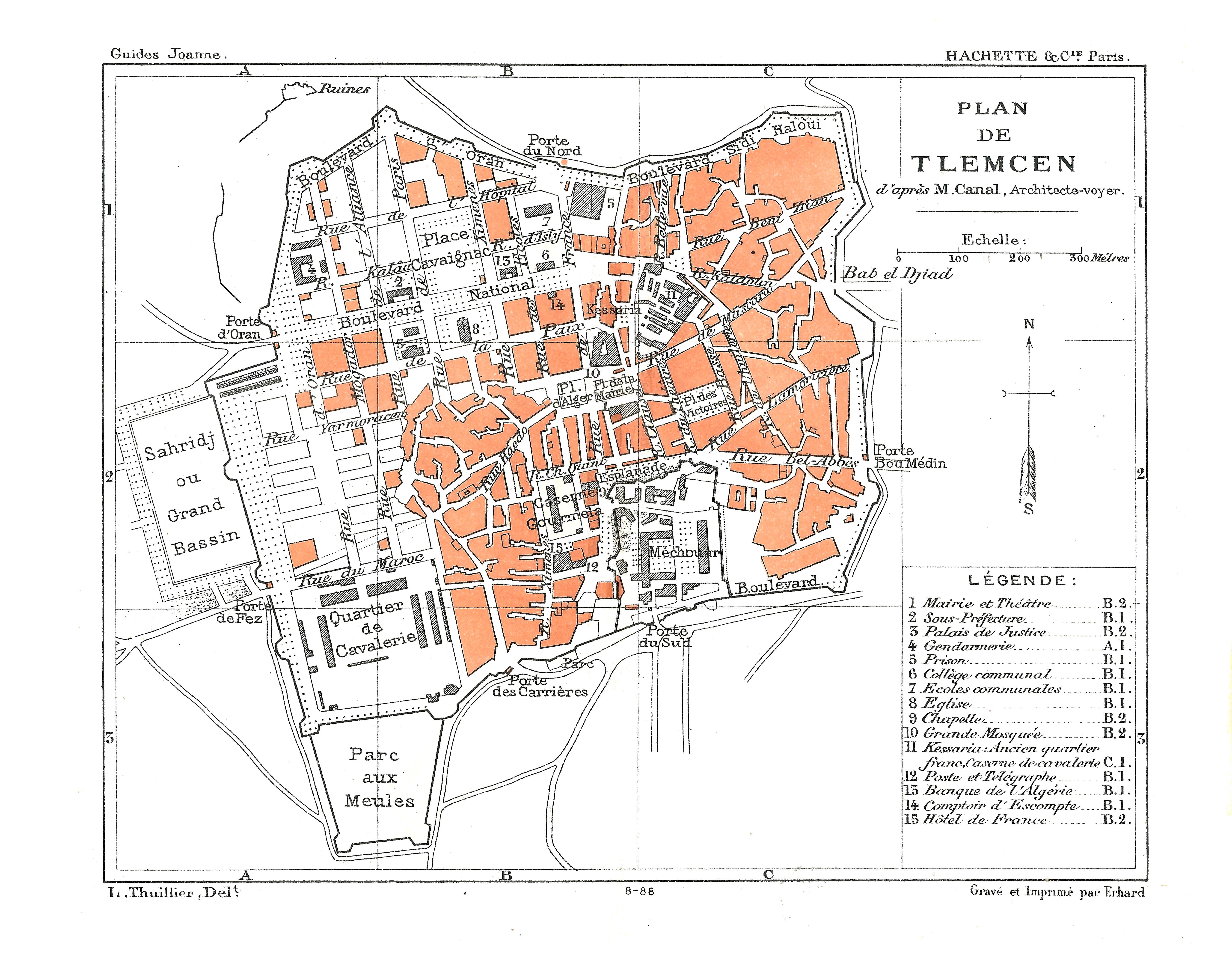 File carte hachette joanne 1887 plan de for Plan tlemcen