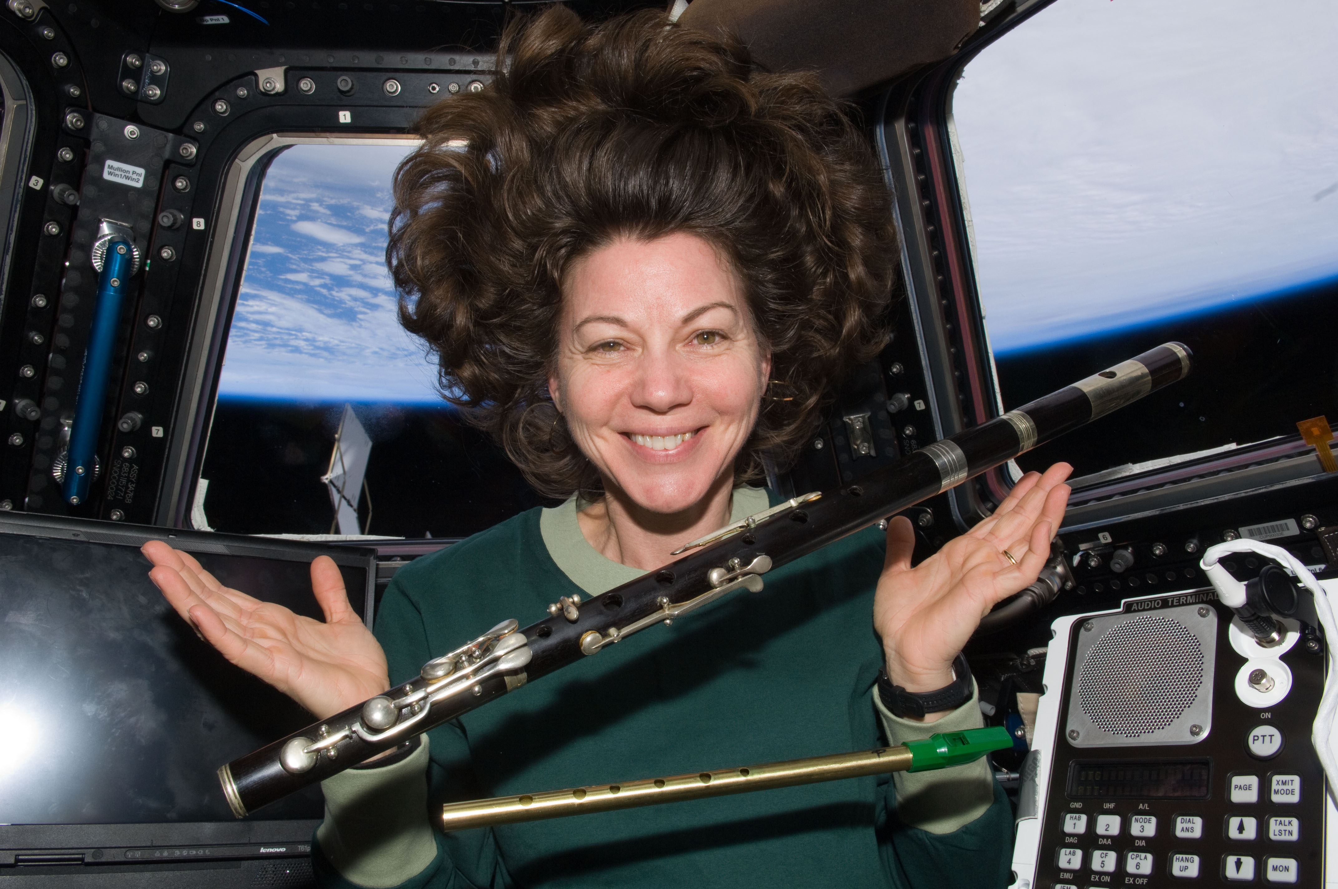 File Catherine Coleman With Flutes Floating In Space Jpg