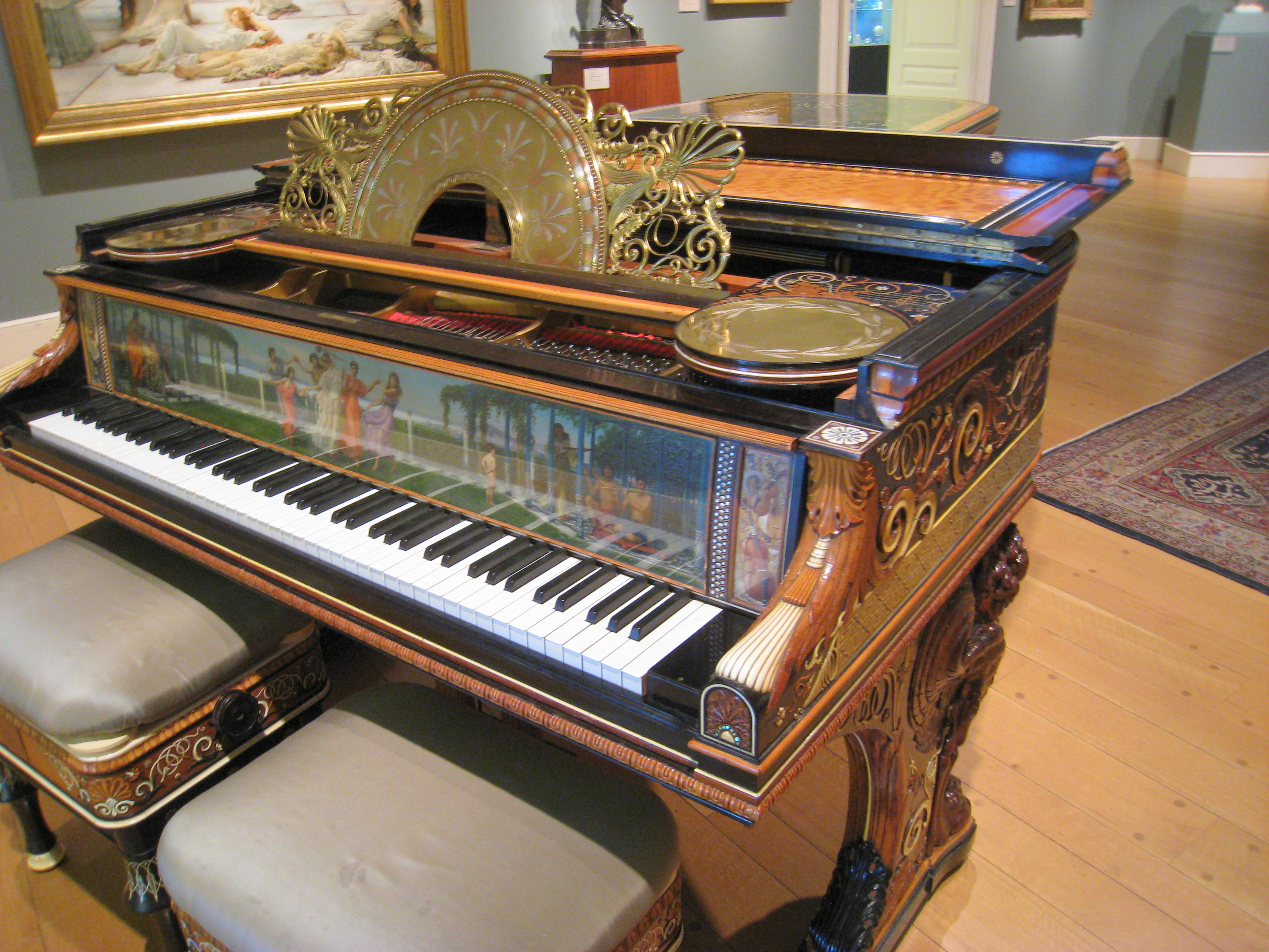 File clark art institute piano a jpg wikimedia commons for Best piano house