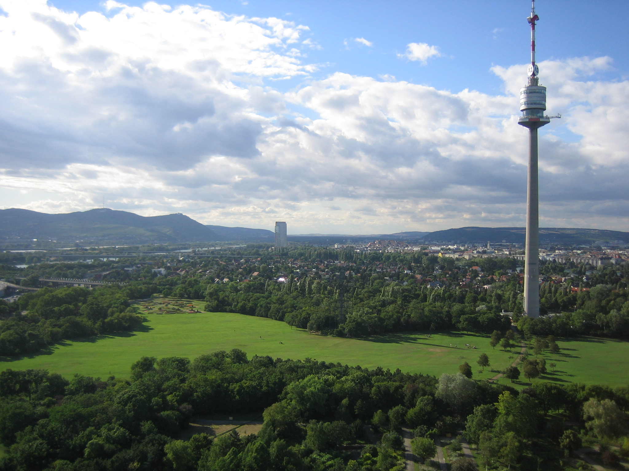 vienna north with danube park and danube tower austria
