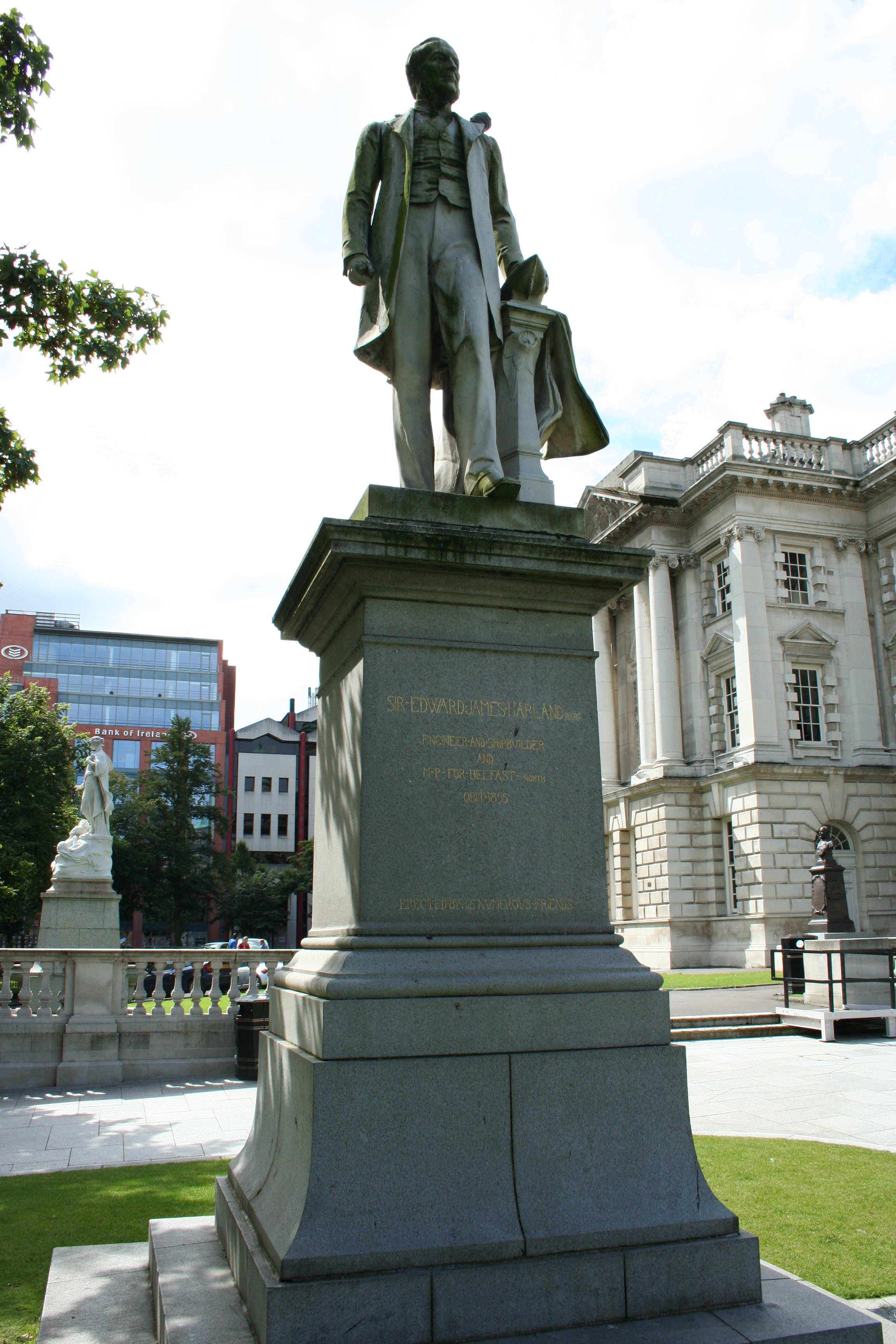 Statue of Edward James Harland in the grounds of Belfast City Hall