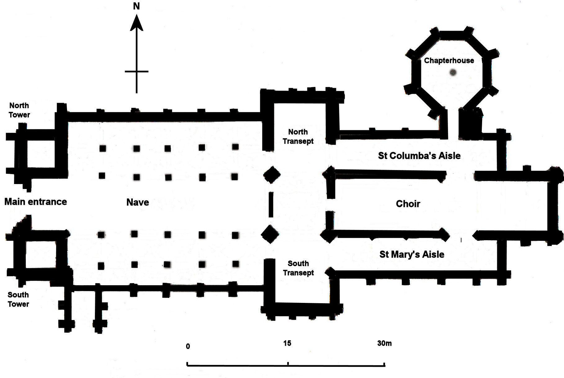 Gothic Church Floor Plan File Elgin Cathedral Plan Jpg Wikimedia Commons