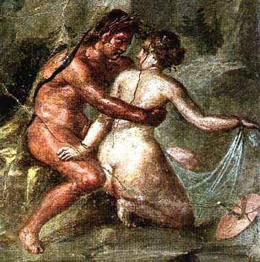 Roman fresco painting erotic