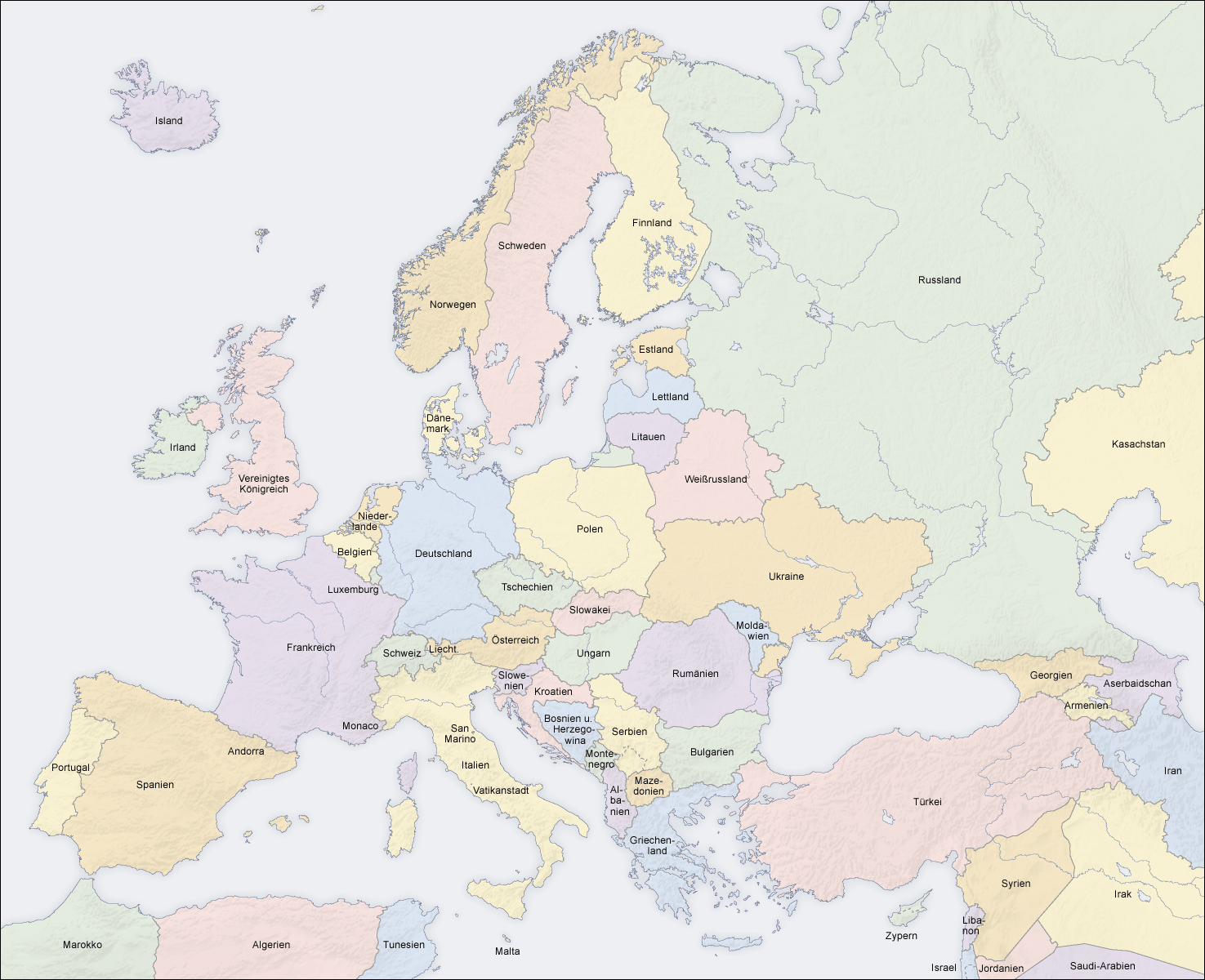 Stumme Karte Europa.Datei Europe Countries Map De Png Wikipedia