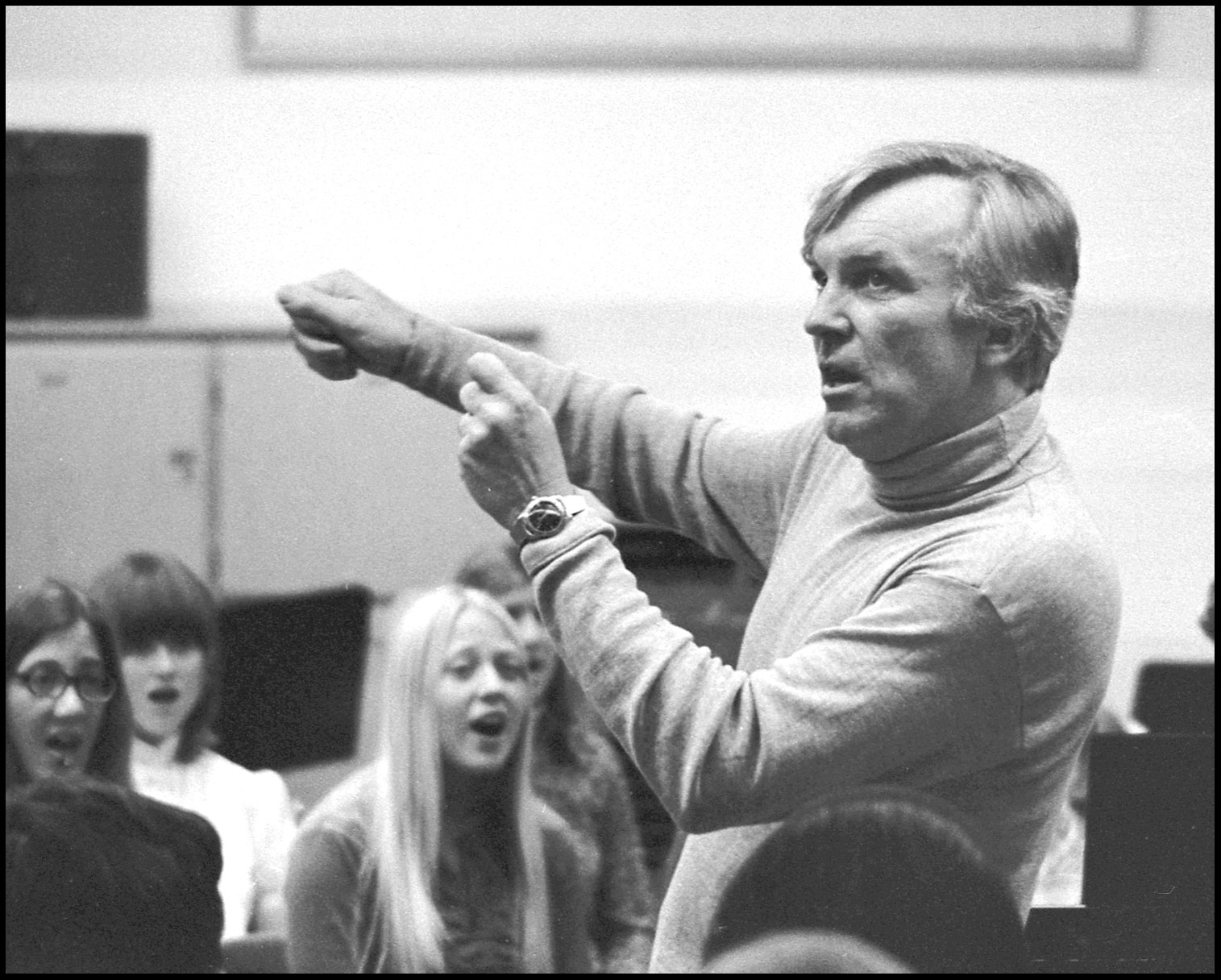 Frank Pooler conducting, 1970s